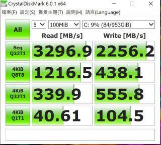 用上 1TB SSD,速度亦算不俗。