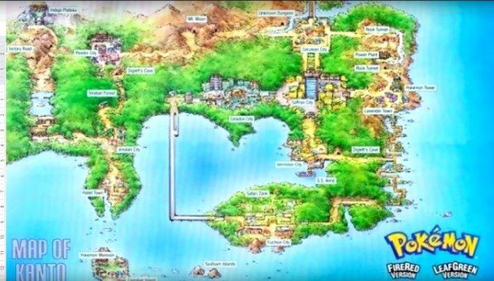 講到香港與中國的關係時, PewDiePie 則拿出《寵物小精靈》中關都地區的地圖出來(其外型與香港十分相似)。