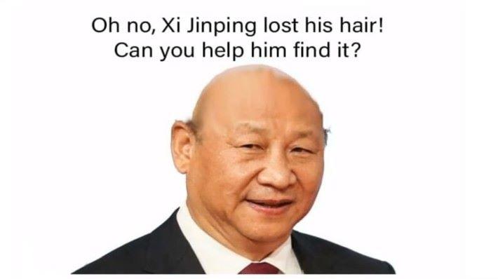 抨批中國的 Meme 難免會有習近平的出現。