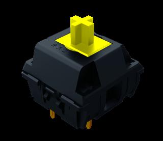 採用 Razer 機械式黃軸開關,提供超快的按鍵反應和 8,000 萬次按鍵壽命。