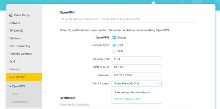 具備 OpenVPN 功能