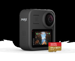 備有前後鏡頭和 6 個收音咪的 GoPro MAX