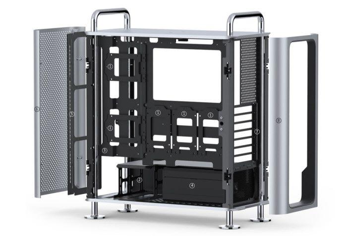 DUNE PRO 內部有很大空間,支持 EEB 主機板,長達 380mm 的顯卡和 360mm 水冷排。