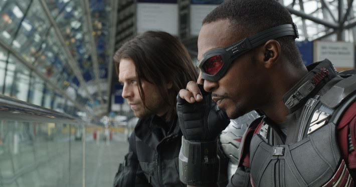 《The Falcon and the Winter Soldier》將會是 Disney+ 獨家影集的頭炮Soldier/Bucky Barnes (Sebastian Stan) and Sam Wilson/Falcon (Anthony Mackie)..Photo Credit: Film Frame..© Marvel 2016