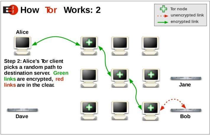 Tor 洋葱路由器是透過隨機路徑和多重加密,令人無法追踪用戶身分和位置。