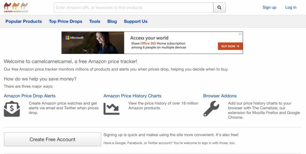 3 隻駱駝「 camelcamelcamel 」網站提供多種追踪 Amazon.com 貨品價格走勢