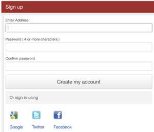 接受以社交網絡帳戶來註冊