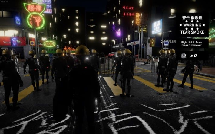 玩家要飾演抗爭者走到現場