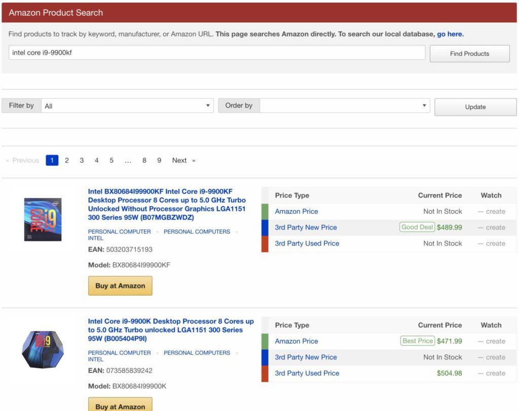 在網頁頂部搜尋列輸入貨品名稱,即可看到該貨品不同出品店家的價格。