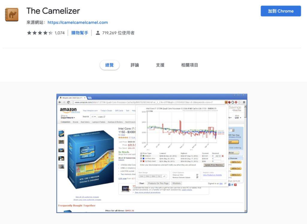 STEP 1. 先到各瀏覽器插件網站安裝好「 The Camelizer 」插件;