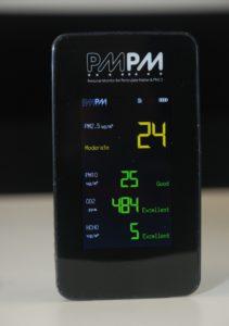 測試 15 分鐘後,PM2.5 指數大幅降至 24,屬可接受水平。