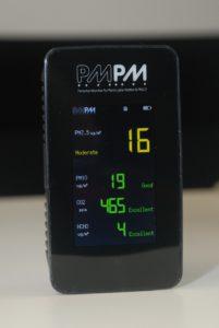 測試 1 小時後,PM2.5 指數進一步下降至 16。