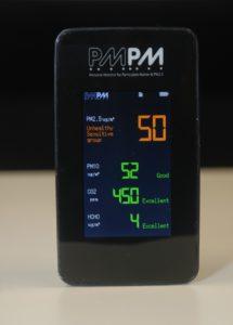 測試前 PM2.5 指數高達 50,屬於不健康水平。