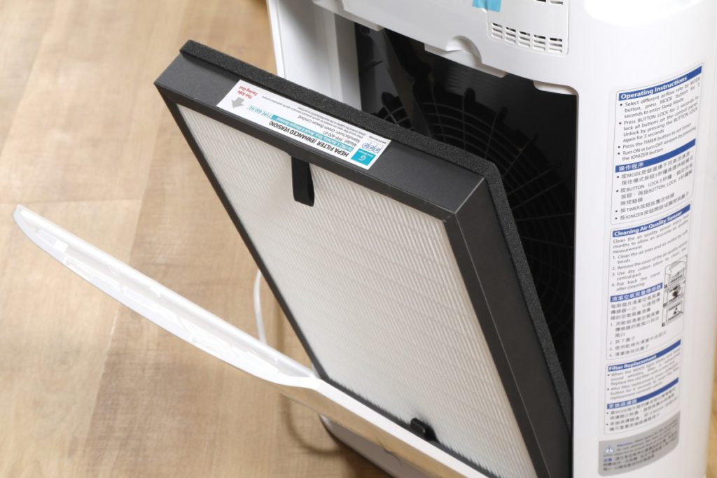 以十字型過濾層技術提升 CADR 效率