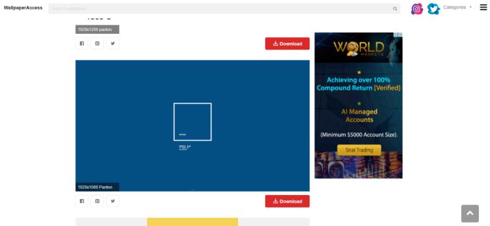 亦有網站會提供 Pantone 主體的 Wallpaper 下載