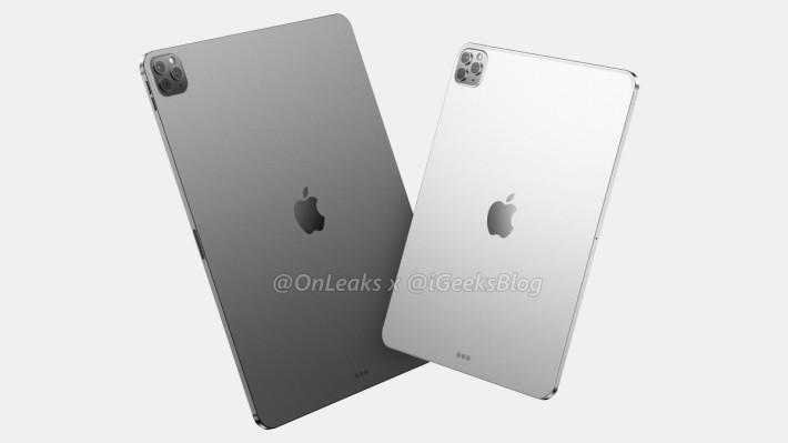 傳聞中 2020 年 iPad Pro 會備有 3 鏡頭(資料來源: OnLeaks 、 iGeeksBlog )
