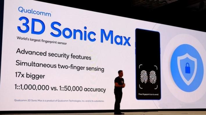 就在傳出 iPhone 會引入屏下指紋辨識技術的時候, Qualcomm 就公布 3D Sonic Max 超聲波屏下指紋感測器,不禁令人聯想到新一代 iPhone 會否用上它。