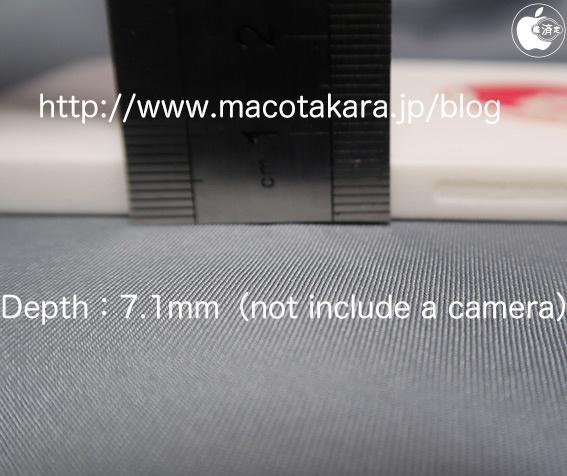 採用方邊設計,厚度為 7.1mm ,比 iPhone 11 Pro Max 薄 1mm 。