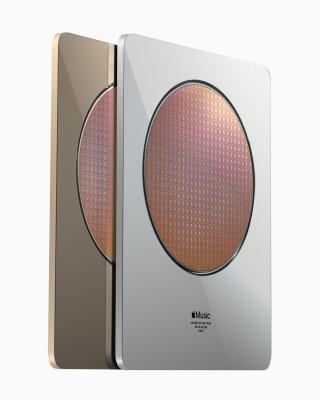 Apple 以象徵 Apple Music Awards 核心的自家研發晶圓來打造獎座。