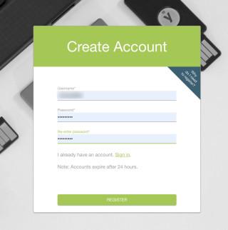 1. 首先要完成帳號註冊;