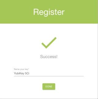 6. 完成密鑰註冊。如果你會註冊多條登入密鑰,建議你給每條密碼改個易識別的名稱;