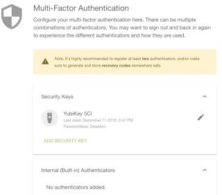 7. 註冊了的密鑰都會列出來,並註明該密鑰是否用作免密碼登入。如果日後你遺失了密碼,只要在這裡把密鑰刪除便可以保護帳戶。