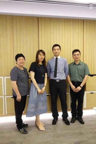 鄭榮之中學的STEM education Unit成員,(左起)教師何素嫦、助理校長嚴勞美意、教師溫華恩和戴三勝,他們見證學生轉變很大。