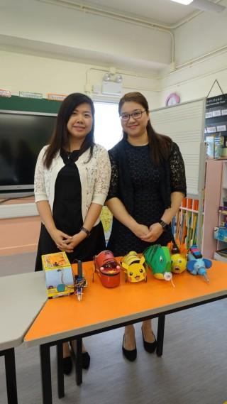 (左)課程發展主任李秀鳳及(右)常識科科主任賴慧貞於兩年內為SPPCS統籌全校的STEM課程。