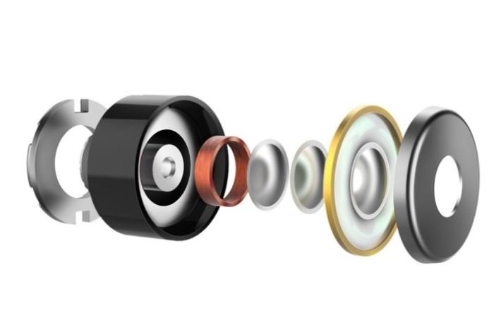 7mm 動圈單元配上鈦金屬複合震膜,保持了足夠的低頻量感。