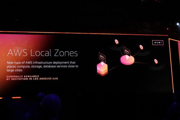 在可用區域之下新增 Local Zone。