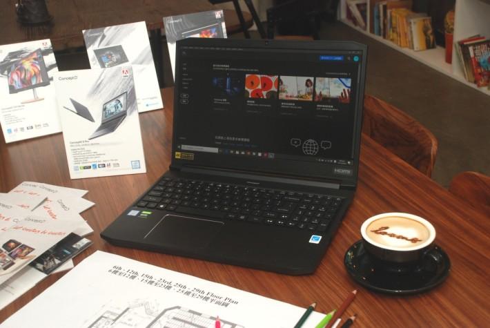 ConceptD 5 Pro 以黑色為主