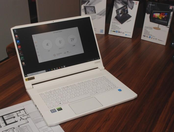 ConceptD 7 Pro 及 3 Pro 主要採用白色設計