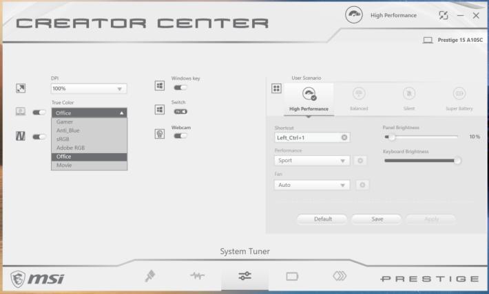 .配合《Creator Center》程式,主流圖像及影像處理效能進一步提升。