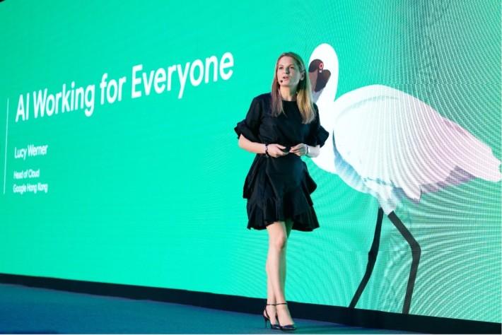 Google 雲端香港主管 Lucy Werner 與團隊運用雲端技術和 AI 協助李嘉誠基金會推展中小企「應急錢」計劃,讓基金會能及時向合資格中小企發放資助,她為此感到鼓舞。