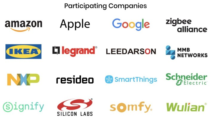 除了 Zigbee 聯盟、 Apple 、 Google 和 Amazon 三大平台之外,宜家、斯耐德和手握大量 NFC 專利的 NXP 等都有參與。