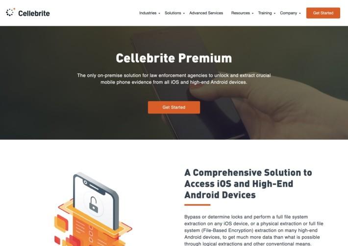 以色列開發公司 Cellebrite 提供名為 UFED Premium 的裝置,協助各國警方破解 iOS 和 Android 裝置。