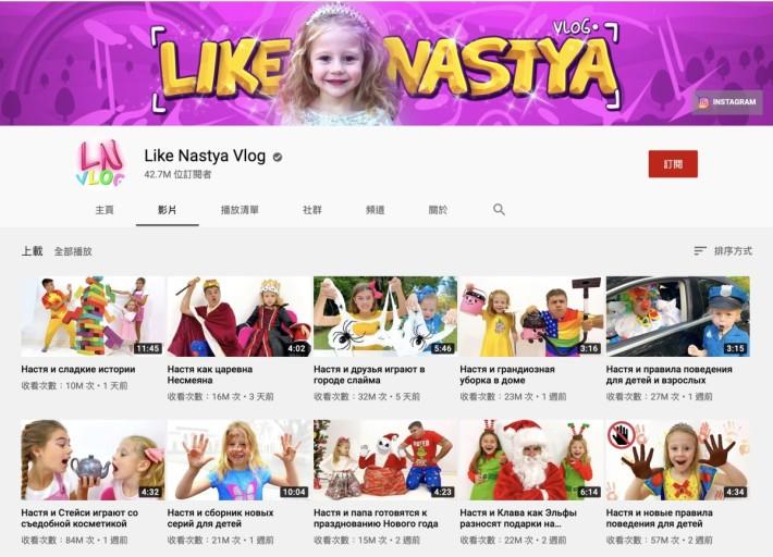 本來為了紀錄患有大腦麻痺的 5 歲女孩 Anastasia 成長紀錄的 YouTube 頻道,過去一年為她一家帶來逾億收入。