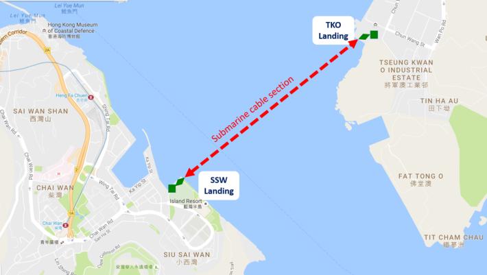 UEL 連接將軍澳工業邨和柴灣,橫跨鯉魚門海峽。