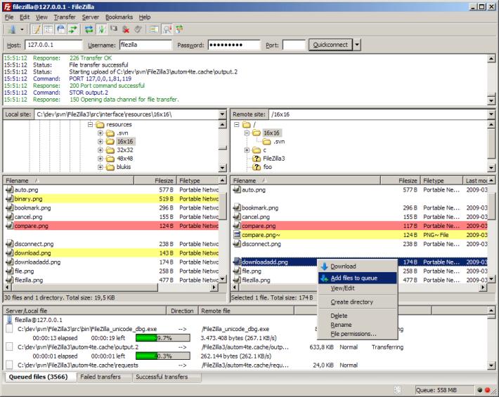 要用 FTP 存取檔案的話, Filezilla 會是不錯的免費選擇。