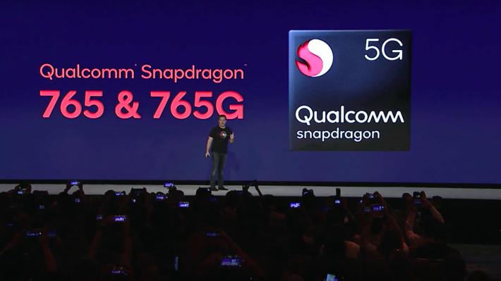 Snapdragon 765/765G 處理器是明年中高階 5G 手機的解決方案。