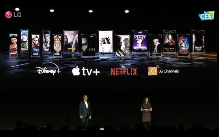 .串流已是重要片源,美版的LG電視包括有AppleTV+ (透過AirPlay2)、Disney+等串流服務,希望在港推出時也有齊就好了。