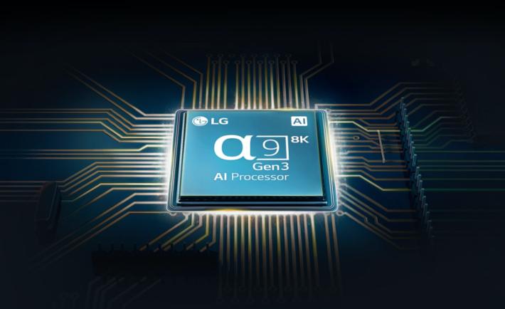 .第三代A9 AI 處理器,也是以深度學習機能對比畫面的細節及進行8K解像升頻處理。