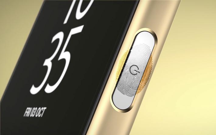 Sony 過去的 Xperia 手機曾採用指紋感測電源掣(圖為 Xperia Z5 )