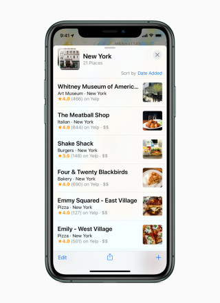 iOS Maps App 收藏