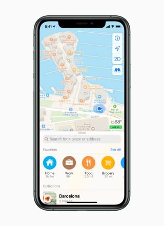 iOS Maps App 喜好項目