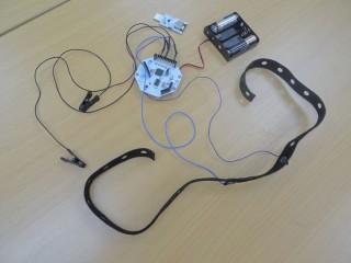 整個腦電波遙控器及接收器。
