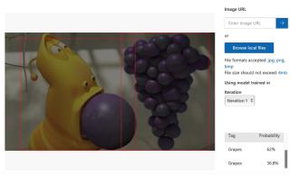 程式能辨別卡通裡的葡萄。
