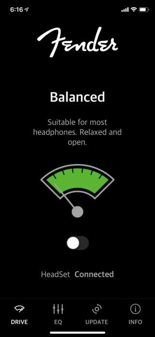 《Fender Audio Enhancer》app 可以開關耳擴功能。
