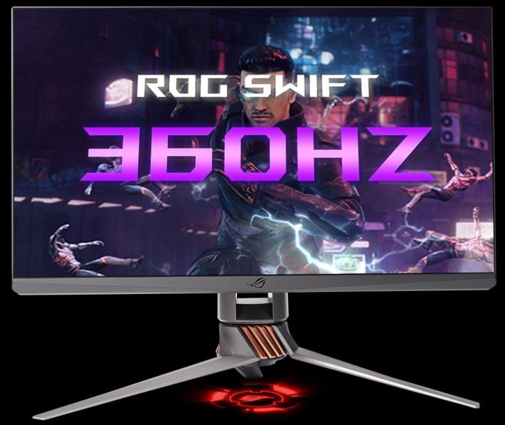 全新的 ROG Swift 360Hz ,外觀與舊型號差不多,但外界玩家反應認為只有 24.5 吋畫面太少。