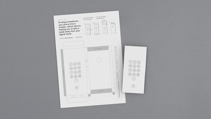 下載 Envelope 的紙樣來製作手機套